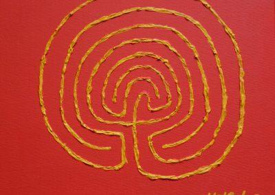 Acryl mit Strktur auf Leinwand (1) 30 cm x 30 cm