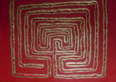 Acryl mit Struktur auf Leinwand 30 cm x 30 cm