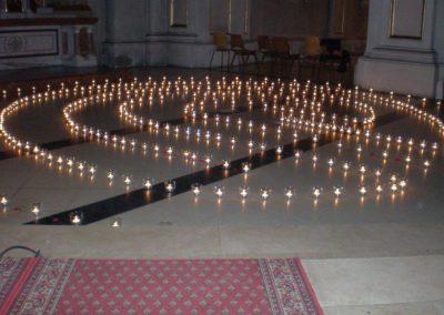 Kerzenlabyrinth St. Johann Lange Nacht der Kirche (1)